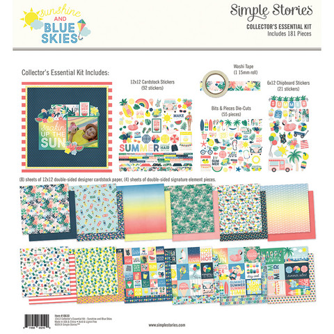 Simple Stories - Sunshine and Blue Skies Collector's Essential Kit 12