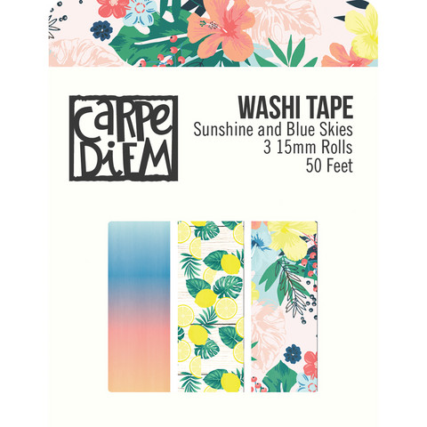 Simple Stories - Sunshine and Blue Skies, Washi Tape, 3 rullaa