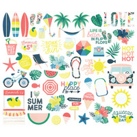 Simple Stories - Sunshine and Blue Skies Bits & Pieces Die-Cuts, 55 osaa