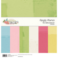 Simple Stories - Simple Vintage Botanicals, Basics Double-Sided Paper Pack 12