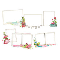 Simple Stories - Simple Vintage Botanicals Layered Frames Die-Cuts, 6 kpl