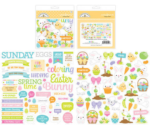 Doodlebug - Hoppy Easter, Odds & Ends Die-Cuts, 104 osaa