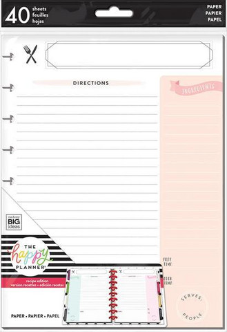 MAMBI - Happy Planner Classic Note Paper - Recipe