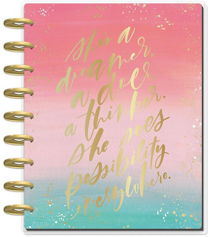 MAMBI - CLASSIC Happy Planner 2019-2020, 18 kk, Choose To Shine