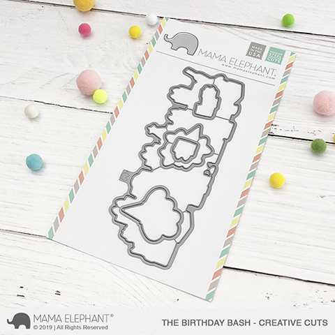 Mama Elephant - The Birthday Bash, Creative Cuts, Stanssisetti