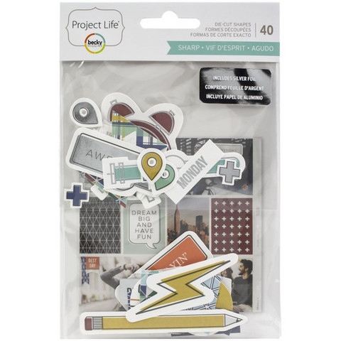 Project Life - Ephemera Die-Cut Shapes, Sharp Edition, 40 osaa