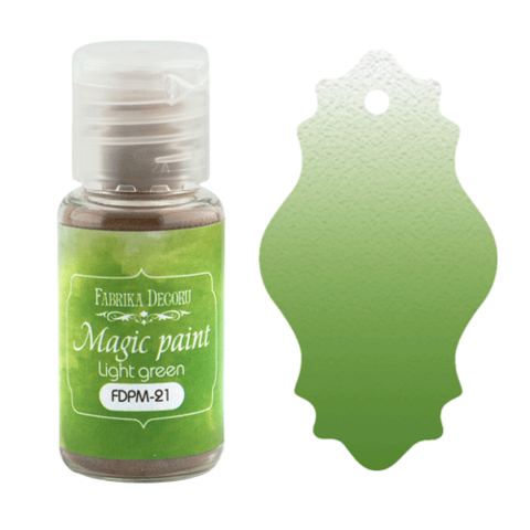 Fabrika Decoru - Magic Paint, Värijauhe, 15 ml, Light green