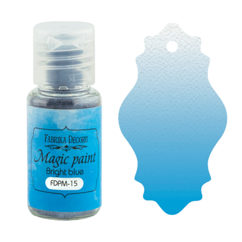 Fabrika Decoru - Magic Paint, Värijauhe,15 ml, Bright blue