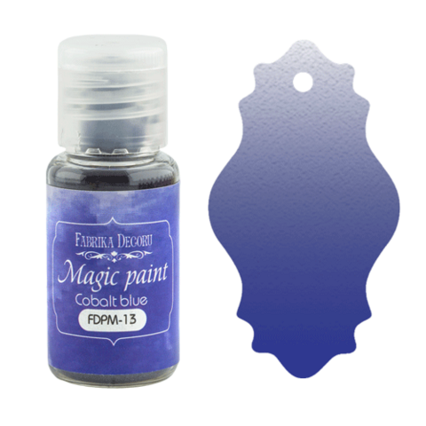 Fabrika Decoru - Magic Paint, Värijauhe,15 ml, Cobalt blue
