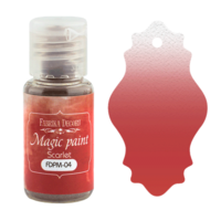 Fabrika Decoru - Magic Paint, Värijauhe,15 ml, Scarlett