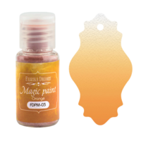 Fabrika Decoru - Magic Paint, Värijauhe,15 ml, Orange