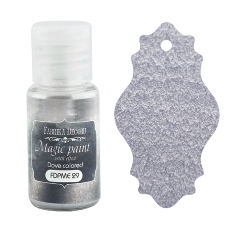 Fabrika Decoru - Magic Paint With Effect, Helmiäisvärijauhe,15 ml, Dove-colored