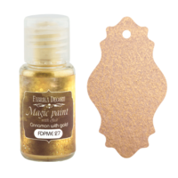 Fabrika Decoru - Magic Paint With Effect, Helmiäisvärijauhe,15 ml, Cinnamon with gold