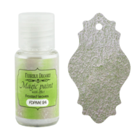 Fabrika Decoru - Magic Paint With Effect, Helmiäisvärijauhe,15 ml, Frosted leaves