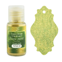 Fabrika Decoru - Magic Paint With Effect, Helmiäisvärijauhe,15 ml, Forest moss