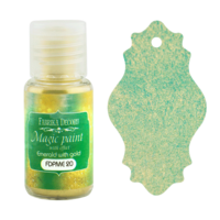 Fabrika Decoru - Magic Paint With Effect, Helmiäisvärijauhe,15 ml, Emerald with gold