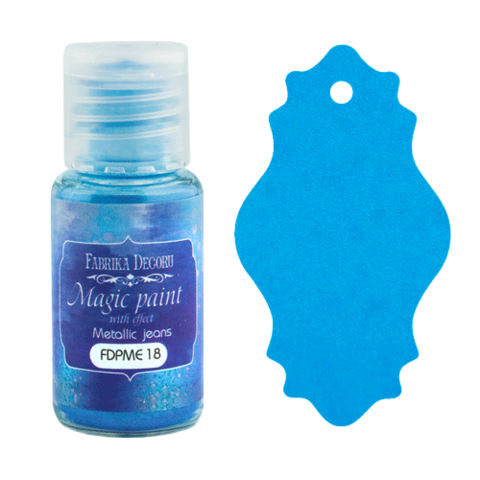 Fabrika Decoru - Magic Paint With Effect, Helmiäisvärijauhe,15 ml, Metallic jeans