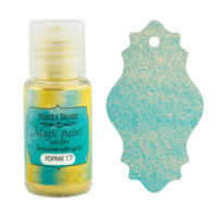 Fabrika Decoru - Magic Paint With Effect, Helmiäisvärijauhe,15 ml, Turquoise with gold