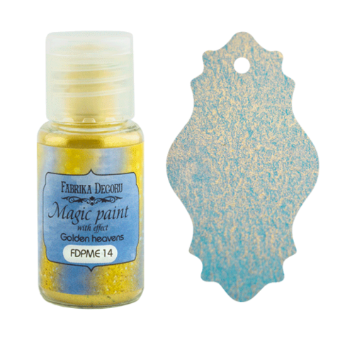 Fabrika Decoru - Magic Paint With Effect, Helmiäisvärijauhe,15 ml, Golden heavens