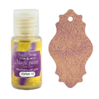 Fabrika Decoru - Magic Paint With Effect, Helmiäisvärijauhe,15 ml, Blackberry with gold