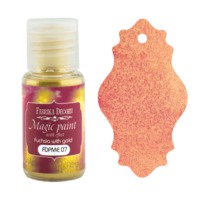Fabrika Decoru - Magic Paint With Effect, Helmiäisvärijauhe,15 ml, Fuchsia with gold
