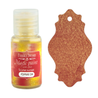 Fabrika Decoru - Magic Paint With Effect, Helmiäisvärijauhe,15 ml, Scarlet sunset