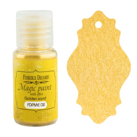 Fabrika Decoru - Magic Paint With Effect, Helmiäisvärijauhe,15 ml, Golden sand