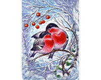 Collection D'Art - Bullfinches (K)(N), Timanttimaalaus, 27x38cm