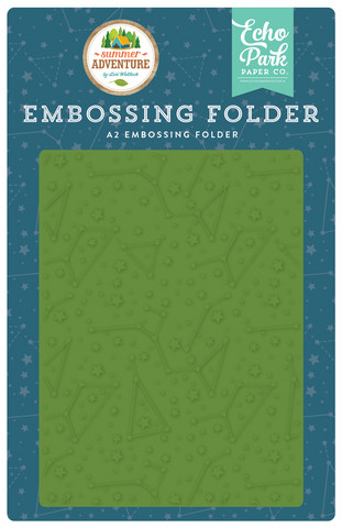 Echo Park - Summer Adventure, Constellations Embossing Folder, Kohokuviotasku