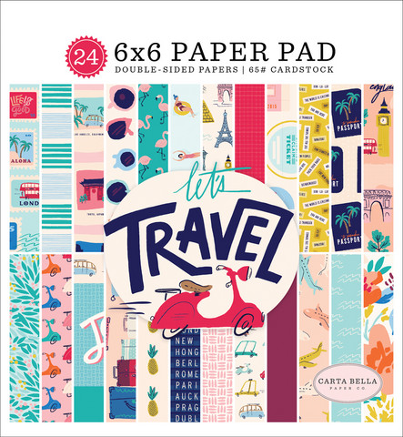 Carta Bella - Let`s Travel Double-Sided Paper Pad 6