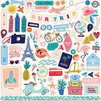 Carta Bella - Let`s Travel Element Sticker 12
