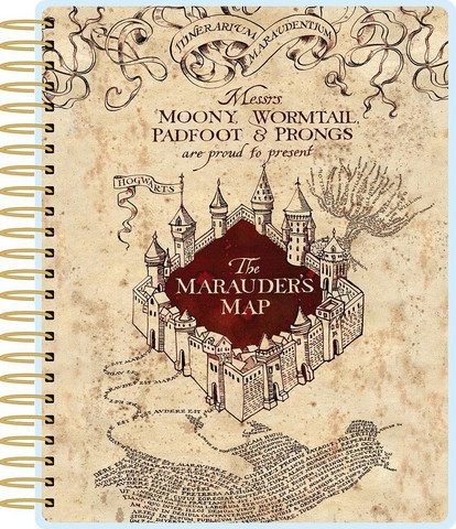 Paper House - Harry Potter 12-Month Planner, Marauder's Map