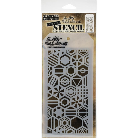 Tim Holtz - Layered Stencil, Patchwork Hex
