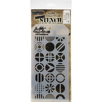 Tim Holtz - Layered Stencil, Patchwork Circle