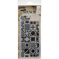 Tim Holtz - Layered Stencil, Patchwork Cube