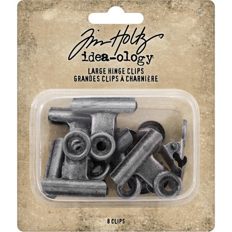 Tim Holtz - Idea-Ology Metal Hinge Clip Large, 8 kpl