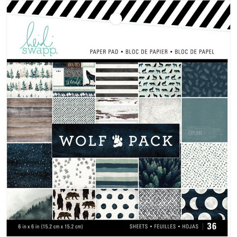 Heidi Swapp - Wolf Pack, Single-Sided Paper Pad 6