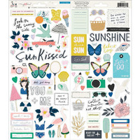 American Crafts - Maggie Holmes Sunny Days Cardstock Stickers, Tarrasetti