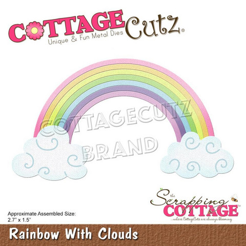 Cottage Cutz - Rainbow With Clouds, Stanssisetti