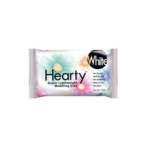 Hearty - Super Lightweight Air-Dry Clay, Muotoilumassa, 50 g, White