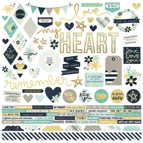 Simple Stories - Heart Combo Sticker 12