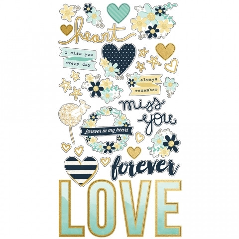 Simple Stories - Heart Chipboard Stickers 6