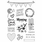 Simple Stories - Heart, Photopolymer Clear Stamps, Leimasetti,  Always in My Heart