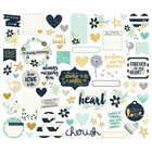 Simple Stories - Heart Bits & Pieces Die-Cuts, 72 osaa