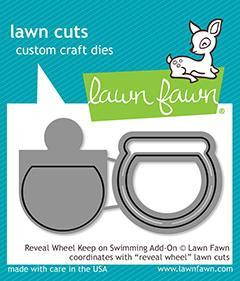 Lawn Fawn -  Reveal Wheel - Keep On Swimming Add-On, Stanssisetti