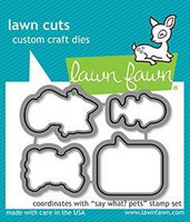 Lawn Fawn - Say What? Pets, Stanssisetti