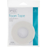 Gina K Designs - Foam Tape, Valkoinen, 1,6mm, 3,6 m
