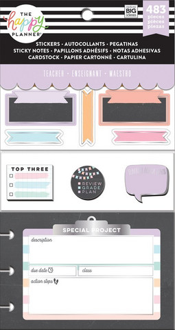 Mambi - Happy Planner Accessory Pack, Teacher - Chalkboard