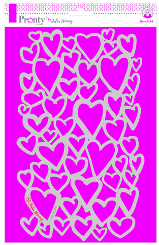 Pronty Crafts - Hearts Stencil A4, Maski