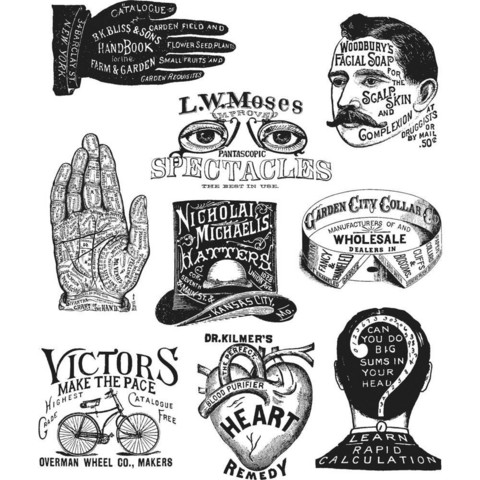 Tim Holtz - Eclectic Adverts, Leimasetti